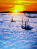 Catskills, Ny, Snow Sunset Photographie par Rudi Von Briel