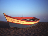 Colorful Rowboat at Sunset, Spain Photographic Print by David Marshall