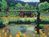 Fountain and Pond, Butchart Gardens, Canada Photographic Print by Francie Manning