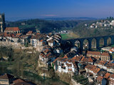 City of Fribourg, Switzerland Photographic Print by Walter Bibikow