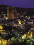 Town & Templo Santa Prisca, Taxco, Mexico Photographic Print by Walter Bibikow