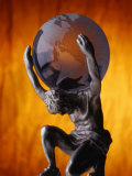 Atlas Statue Holding Up the World Photographic Print by Matthew Borkoski