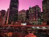 East River Drive at Night, NYC, NY Fotografie-Druck von Rudi Von Briel