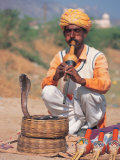 Snake Charmer, India Photographic Print by Lauree Feldman