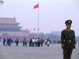 Policeman, Tiananmen Square, Beijing, China Photographic Print by Bill Bachmann