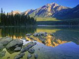 Pyramid Mt. at Sunrise, Canada Photographic Print by Kevin Law