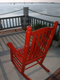 Rocking Chair Overlooking Fernardina Harbor, FL Photographic Print by Pat Canova