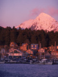 Winter Sunset on an B Harbor, Sitka Alaska Photographic Print by Ernest Manewal