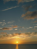 Sunset Over Ocean, HI Photographic Print by Steven Baratz