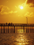 Sunset Over Virginia Beach, VA Photographic Print by Chris Rogers