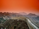 Great Wall of China, Jinshanling Fotoprint van Bill Bachmann