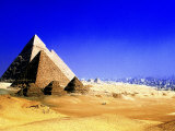 Pyramids of Giza, Egypt Photographic Print by Frank Chmura