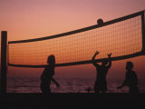 Sunset Beach Volleyball Photographic Print by Mitch Diamond