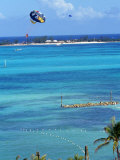 Parasailing, Nassau, Bahamas Photographic Print by Chel Beeson