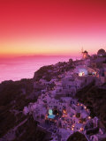 Santorini at Night, Greece Photographic Print by Walter Bibikow