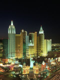 View of New York New York Resort, Las Vegas, NV Photographic Print by James Lemass