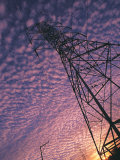 Power Line Tower Photographic Print by Mitch Diamond
