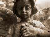 Guardian Angel in Cemetery Photographic Print by John Glembin