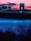 George Washington Bridge, Hudson River, NY Fotografie-Druck von Rudi Von Briel