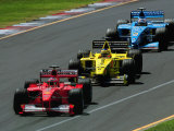 Formula 1 Auto Race Fotografisk tryk af Peter Walton