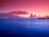 Boats on the Bay at Sunset, Culebra, Puerto Rico Photographic Print by Dan Gair