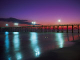 Bay Co.Pier, Gulf of Mexico, Panama City Beach, FL Photographic Print by Jim Schwabel