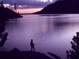 Fisherman at Sunset Photographic Print by William Swartz