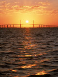 Sunshine Skyway Bridge, FL Photographic Print by Rick Poley