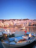 Mykonos Harbor, Mykonos, Greece Fotodruck von Peter Adams