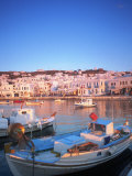 Mykonos Harbor, Mykonos, Greece Photographic Print by Peter Adams