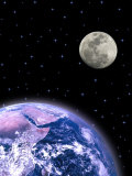 Earth and the Moon Photographic Print by David Davis