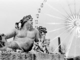 Statue and Ferris Wheel, Jardin Des Tuileries Photographic Print by Walter Bibikow