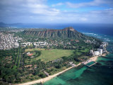 Waikiki Beach, Diamond Head, Hawaii Photographic Print by Tomas del Amo