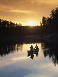 People Canoeing, Basswood Lake, Boundary Waters Photographic Print by Amy And Chuck Wiley/wales