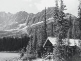 Cabin and Mts at Lake O&#39;Hara Photographic Print by Claire Rydell
