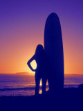 Surfer Girl, Silhouette Photographic Print by Jerry Koontz