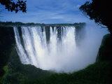 Victoria Falls, Zimbabwe, Africa Fotografisk tryk af Dan Gair
