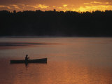 Man Fishing on Lake, Quetico Provincial Park Photographic Print by Amy And Chuck Wiley/wales