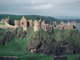 Dunluce Castle on Cliff, Northern Ireland Photographic Print by Pat Canova