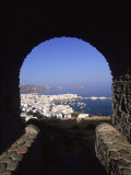 Archway from Town Castle, Mykonos, Greece Photographic Print by Walter Bibikow