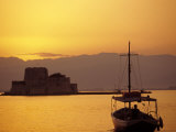 Bourtzi Island Fort, Nafplio, Peloponnesos, Greece Photographic Print by Walter Bibikow