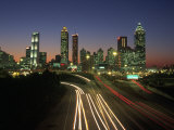 Night Skyline, Atlanta, Georgia Photographic Print by Kevin Leigh