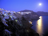 Moonrise on Santorini, Greece Photographic Print by Kevin Beebe