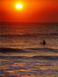 Surfer at Sunrise, FL Photographic Print by Jeff Greenberg