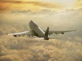 Peter Walton - Jumbo Jet Above Clouds at 35,000 Feet - Fotografik Baskı