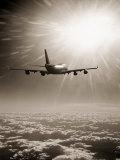 Airplane Flying Through Clouds Fotografisk trykk av Peter Walton