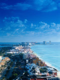 Aerial of the Beaches of Cancun, Mexico Photographic Print by Peter Adams