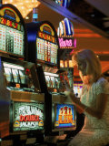 Gaming in a Casino, Las Vegas, NV Photographic Print by Lonnie Duka