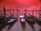 Gondolas, Venice, Italy Fotografisk tryk af Frank Chmura
