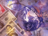 International Currencies and Earth Photographic Print by Ellen Kamp